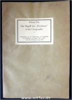 Der Begriff des Rhythmus in der Geographie : Sonderdruck aus den Mitteilungen der Gesellschaft für Erdkunde zu Leipzig 1923 - 1925.