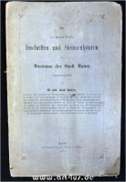 Die römischen Inschriften und Steinsculpturen des Museums der Stadt Mainz