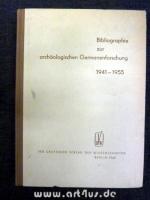 Bibliographie zur archäologischen Germanenforschung : Deutschsprachige Literatur 1941 - 1955.