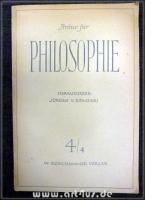 Archiv für Philosophie 4/4 : 4. Heft 1952