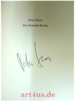 Die deutsche Rechte : eine Streitschrift [signiert v. Peter Glotz]