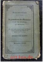 Considérations Sur Les Causes De La Grandeur Des Romains Et De Leur Décadence par Montesquieu