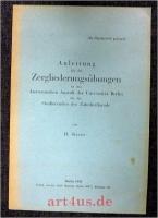 Anleitung für die Zergliederungsübungen an der Anatomischen Anstalt der Universität Berlin für die Studierenden der Zahnheilkunde.