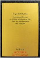 Anatomie und Chirurgie des Schädels, insbesondere der Hals-, Nasen- und Ohrenkrankheiten nach Ibn al-Quff.