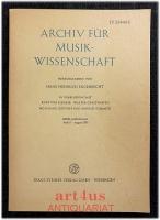 Archiv für Musikwissenschaft : XXVII. Jahrgang : Heft 3 August 1970