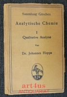 Analytische Chemie I : Qualitative Analyse.