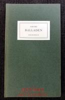 Goethe : Balladen : Auswahl und Nachbemerkung von Friedhelm Kemp.