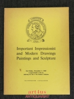Catalogue of Important Impressionist and Modern Drawings Paintings and Sculpture [...]