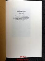 Aloys Ruppel : 1882 - 1977 ; Würdigung bei der Gedächtnisfeier des Fachbereichs 16 Geschichtswissenschaft der Johannes Gutenberg-Universität Mainz und der Gutenberg-Gesellschaft am 21. Juni 1978.