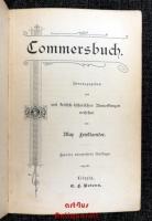Commersbuch : Herausgegeben und mit kritisch-historischen Anmerkungen versehen von Max Friedlaender.