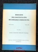 Ansätze europäischer Buchmarkt-Forschung.
