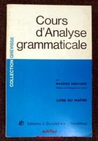 Cours d`Analyse grammaticale : Livre du maître, édition 1990 (Parascolaire)