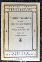 Florilegium Graecum In Usum Primi Gymnasiorum Ordinis Collectum A Philologis Afranis Fasc.