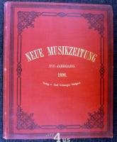 Neue Musik-Zeitung  17. Jahrgang (1896) ; mit Notenbeilage
