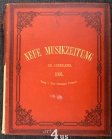 Neue Musik-Zeitung  12. Jahrgang (1891) ; mit Notenbeilage