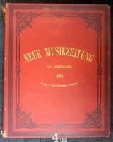 Neue Musik-Zeitung  14. Jahrgang (1893) ; mit Notenbeilage