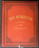 Neue Musik-Zeitung  19. Jahrgang (1898) ; mit Notenbeilage