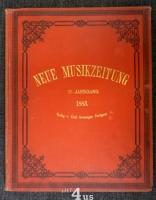 Neue Musik-Zeitung  4. Jahrgang (1883) ; mit Notenbeilage