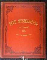 Neue Musik-Zeitung  21. Jahrgang (1900) ; mit Notenbeilage
