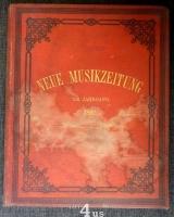 Neue Musik-Zeitung  13. Jahrgang (1892) ; mit Notenbeilage
