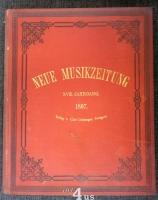 Neue Musik-Zeitung  18. Jahrgang (1897) ; mit Notenbeilage
