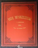 Neue Musik-Zeitung  5. Jahrgang (1884) ; mit Notenbeilage