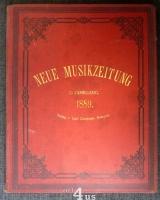 Neue Musik-Zeitung  10. Jahrgang (1889) ; mit Notenbeilage