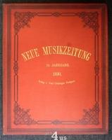 Neue Musik-Zeitung  11. Jahrgang (1890) ; mit Notenbeilage