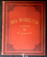 Neue Musik-Zeitung  20. Jahrgang (1899) ; mit Notenbeilage