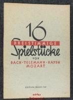 16 dreistimmige Spielstücke von Bach, Telemann, Haydn, Mozart